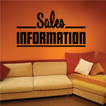 Sales Information Wall Decal - Vinyl Decal - Car Decal - Business Sign - MC752