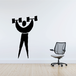 Weightlifting Wall Decal - Vinyl Decal - Car Decal - Bl002