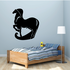Long Thick Tail and Mane Horse Decal