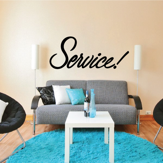 Service Wall Decal - Vinyl Decal - Car Decal - Business Sign - MC754