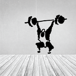 Weightlifting Wall Decal - Vinyl Decal - Car Decal - Bl004