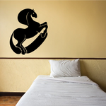Curving Thick Horse Decal