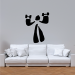 Weightlifting Wall Decal - Vinyl Decal - Car Decal - Bl006