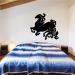 Super Curly Mane And Tail Horse Decal