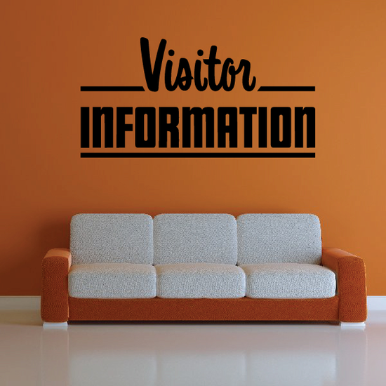 Visitor Information Wall Decal - Vinyl Decal - Car Decal - Business Sign - MC760