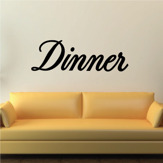 Dinner Wall Decal - Vinyl Decal - Car Decal - Business Sign - MC768