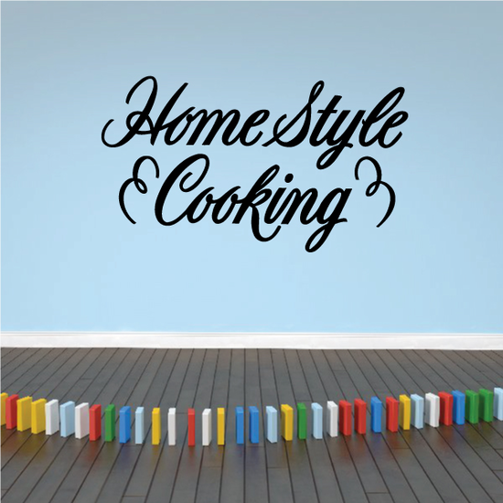 Home Style Cooking Wall Decal - Vinyl Decal - Car Decal - Business Sign - MC771