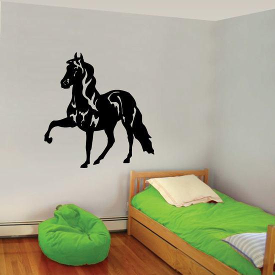Peaceful Walking Trot Horse Decal