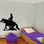 Cowboy Riding Horse Charging Decal