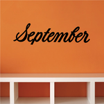 September Wall Decal - Vinyl Decal - Car Decal - Business Sign - MC784