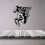 Looking Down Saddled Horse Decal