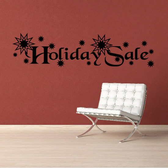 Holiday Sale Wall Decal - Vinyl Decal - Car Decal - Business Sign - MC790
