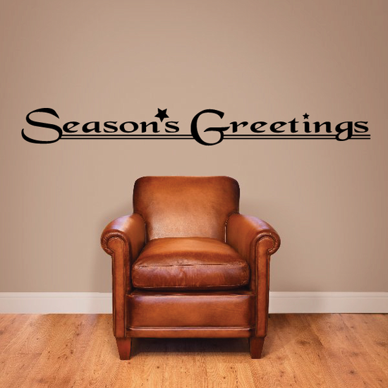 Seasons Greetings Wall Decal - Vinyl Decal - Car Decal - Business Sign - MC792
