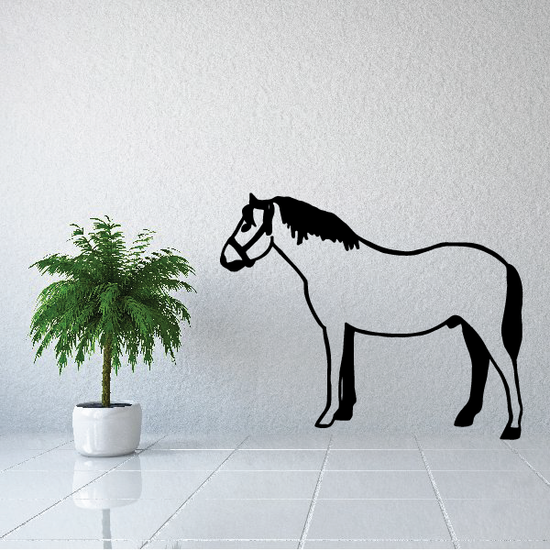Tamed Horse Standing Decal