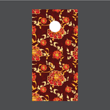 Flower Cornhole Board Wraps