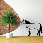 Standing American Quarter Horse Decal