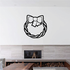 Braided Wreath with Bow Decal