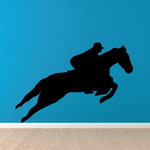 Jumping with Rider Horse Decal