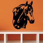 Watching Horse Head Decal