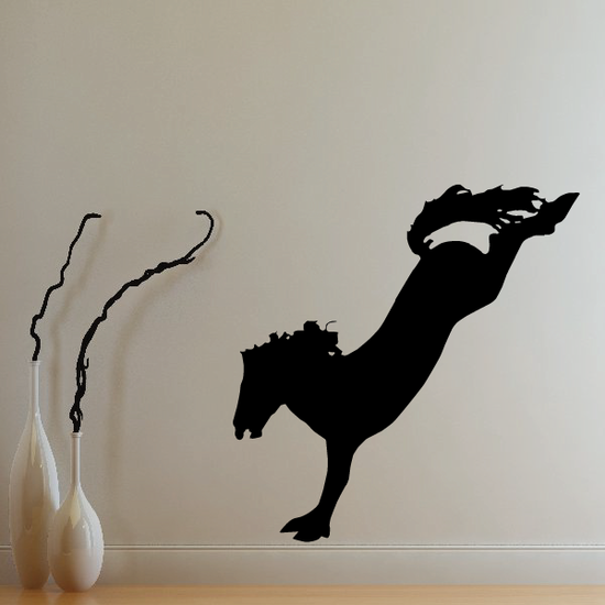 Stretched Landing Horse Decal
