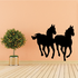 Two Horses Running Silhouette Decal