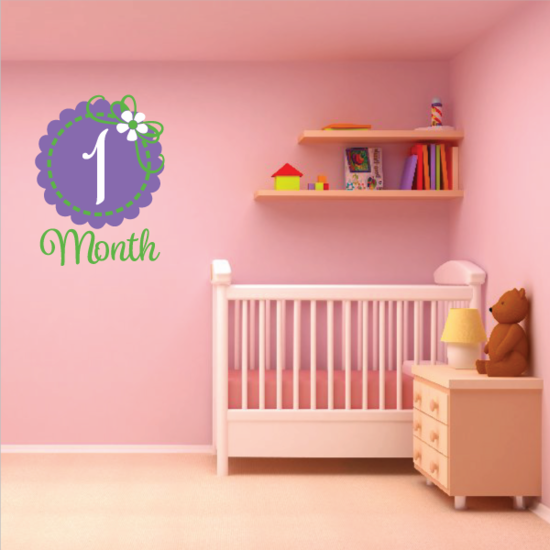 1 Month Wall Decal