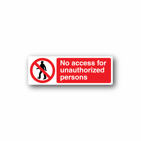 NO Safety Sign Wall Decal - Vinyl Sticker - Car Sticker - Die Cut Sticker - CD020