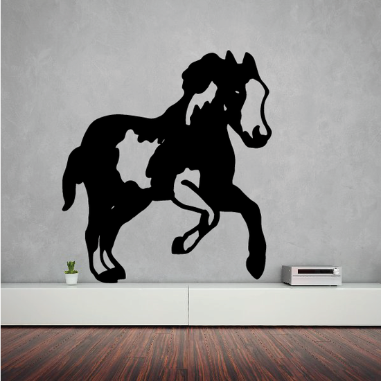 Trotting Pinto Horse Decal