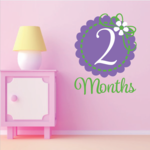 2 Month Wall Decal