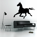 Running Cleveland Bay Horse Decal