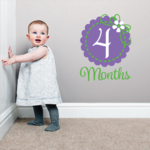 4 Month Wall Decal