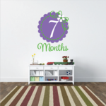 7 Month Wall Decal