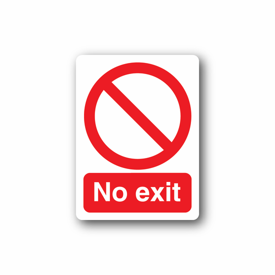 NO Safety Sign Wall Decal - Vinyl Sticker - Car Sticker - Die Cut Sticker - CD025