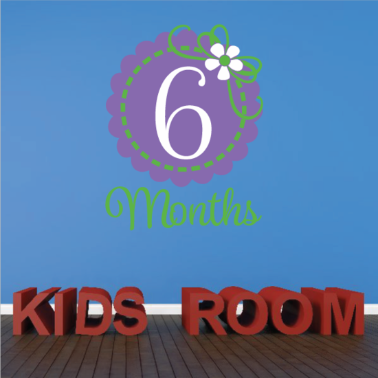 6 Month Wall Decal