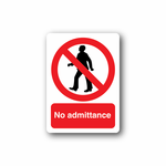 NO Safety Sign Wall Decal - Vinyl Sticker - Car Sticker - Die Cut Sticker - CD028