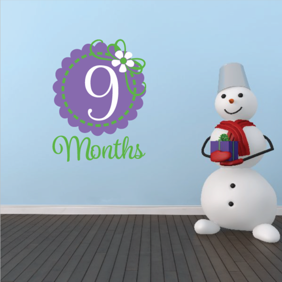 9 Month Wall Decal