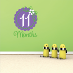 11 Month Wall Decal