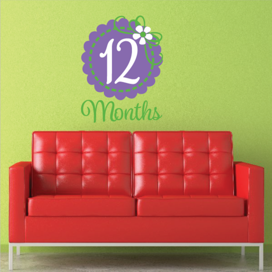 12 Month Wall Decal
