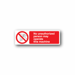 NO Safety Sign Wall Decal - Vinyl Sticker - Car Sticker - Die Cut Sticker - CD037