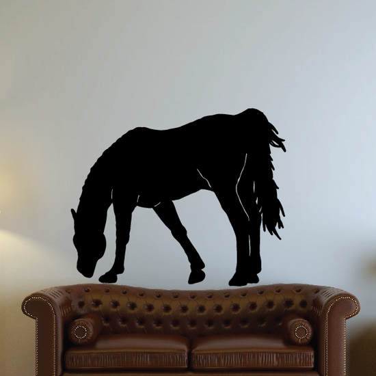 Grazing Horse Decal