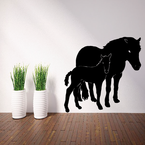 Horse and Foal Decal