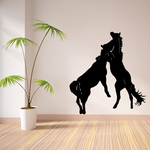 Horses Challenging Decal