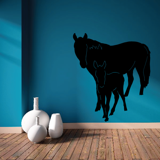 Horse and Young Foal Decal