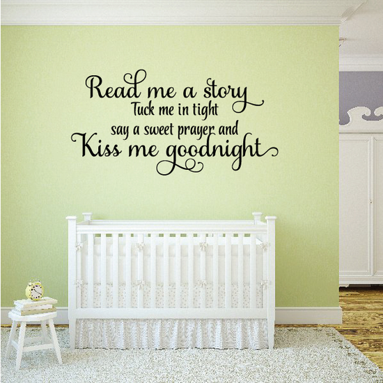 Read me a Story Kiss Me Goodnight Wall Decal