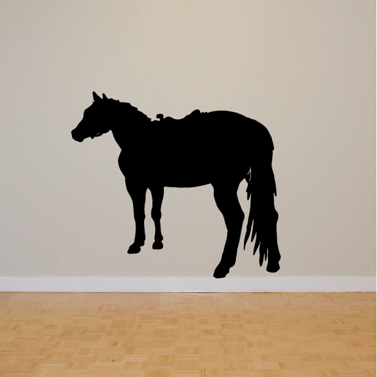 Perspective Standing Horse Decal
