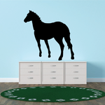 Horse Leaning Forward Decal