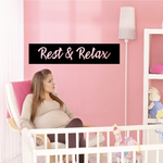 Rest and Relax Wall Decal