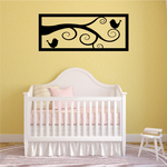 Small Birds on a branch Wall Decal