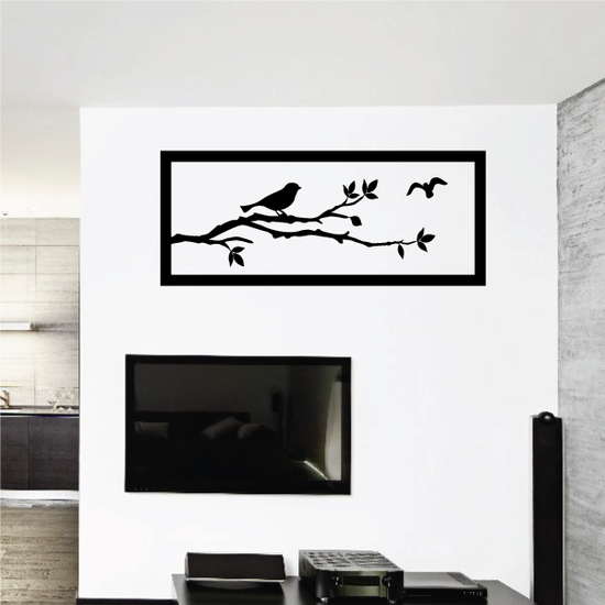Tree Branch with Birds Wall Decal
