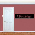 Welcome Rectangle Wall Decal